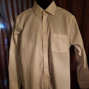 Mens white van Heusen collared shirt